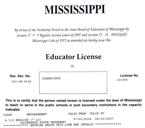 Educator License