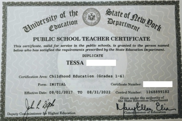 CHILDHOOD EDUCATION Certificate